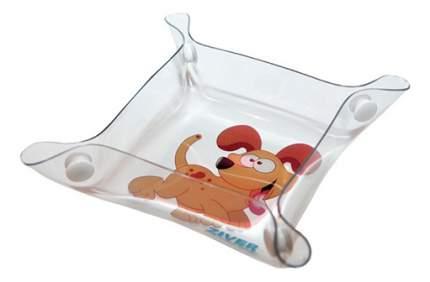 Одинарная миска для собак ZIVER, пластик, прозрачный, 0.1 л