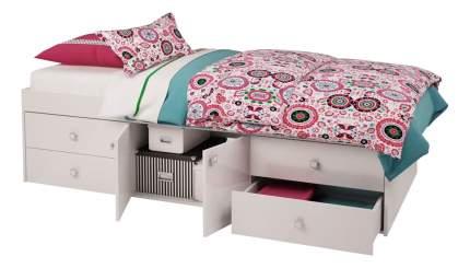 Кровать Polini Simple 3100 с 4 ящиками, белый