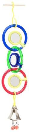 Игровая площадка для птиц JW 3 зеркальца с колокольчиком, Пластик, Металл, 5,4x25см
