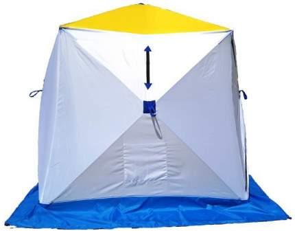 Палатка Стэк Куб одноместная белая/желтая/синяя
