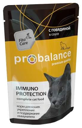 Влажный корм для кошек ProBalance Immuno Protection, с говядиной в соусе, 85г