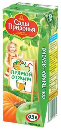 Сок Сады Придонья Тыква и яблоко с мякотью прямого отжима с 5 мес 200 мл