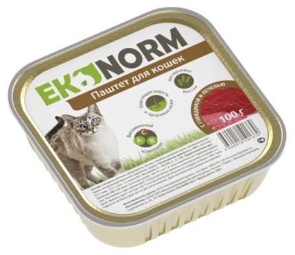 Консервы для кошек Ekonorm, говядина, печень, 100г