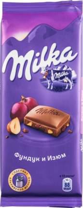 Шоколад молочный Milka фундук и изюм 90 г