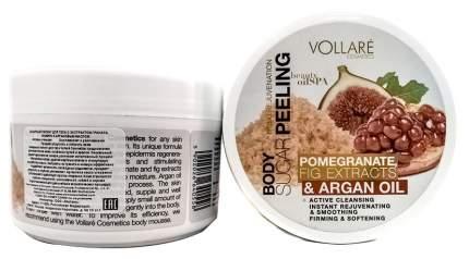 Сахарный пилинг для тела Vollare с экстрактом граната инжира и аргановым маслом 225 г