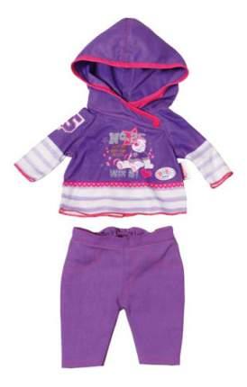 Костюм с мишкой фиолетовый для Baby Born Zapf Creation