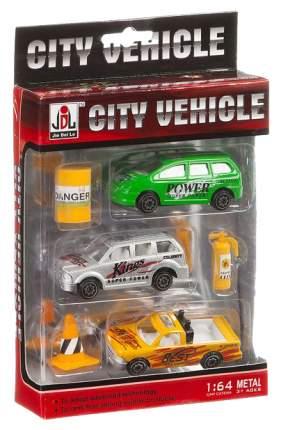 Игровой набор из 3 машинок Gratwest City Vehicle 1:64