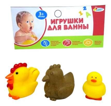 Игрушки для ванной Петух, курица, цыпленок Играем вместе LXB107_165_MOM