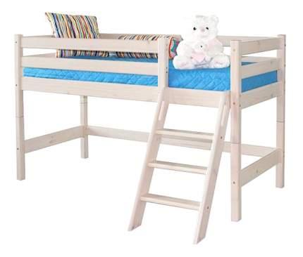 Кровать МебельГрад Низкая Соня с наклонной лестницей (вариант 12)