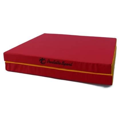Мат № 10 (100 х 150 х 10) складной 1 сложение красно/жёлтый