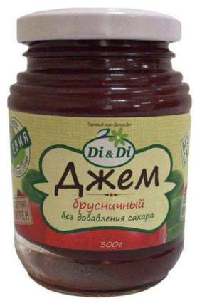 Джем брусничный DiDi горячего розлива без добавления сахара 300 г