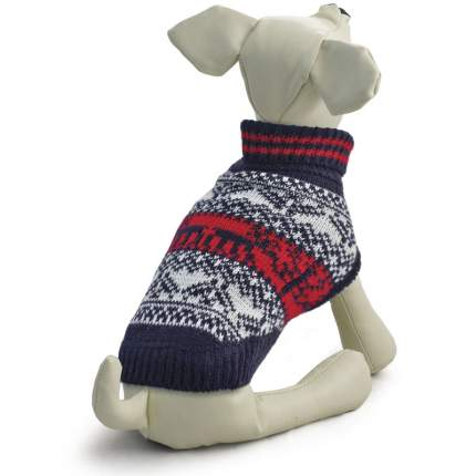 Свитер для собак Triol размер S унисекс, синий, белый, красный, длина спины 25 см