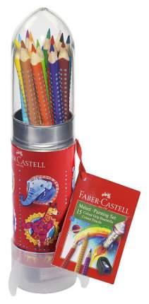 "Цветные карандаши Faber-Castell ""Ракета"" GRIP 15 шт"