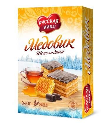 Торт Русская Нива медовик с шоколадом 340 г