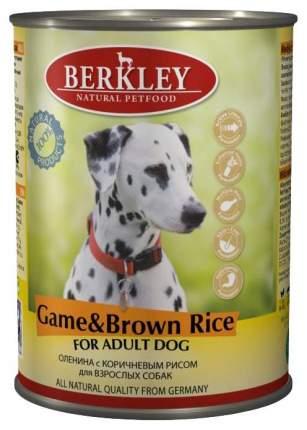 Консервы для собак Berkley, оленина, коричневый рис, 6шт, 400г