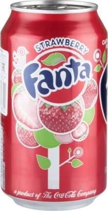 Напиток сильногазированный Fanta strawberry жестяная банка 355 мл