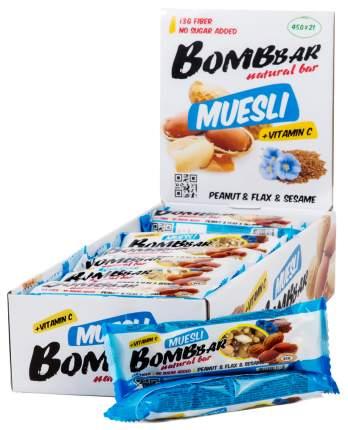 Протеиновый батончик Bombbar 40 г арахис