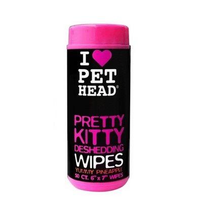 Влажные салфетки для кошек Pet Head Вкусный ананас, гипоаллергенные, от линьки, 50шт