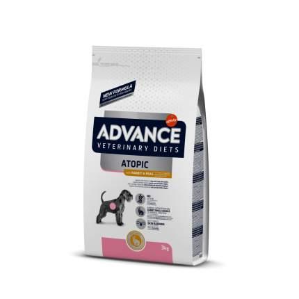 Сухой корм для собак Advance, при дерматозах и аллергии, беззерновой, кролик, 3 кг