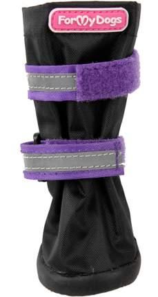 Сапоги для собак FOR MY DOGS, на резиновой подошве, черно-фиолетовые, FMD654-2019 Bl/V 9