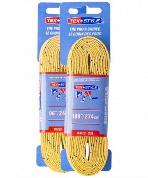 Шнурки для коньков Tex Style W917 желтые, 2,74 м