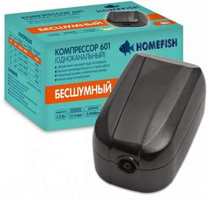 Компрессор для аквариума Home-Fish 601 одноканальный, 1,5 л/мин
