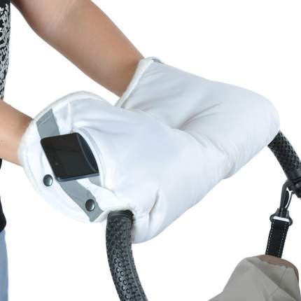 Муфта с карманом на молнии Bambola, белая
