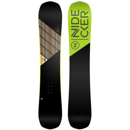 Сноуборд Nidecker Play 2019, black/green, 159W см