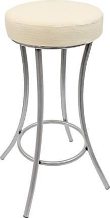Барный табурет Стулья.Сайт 1605 40х40х76 см, кремовый/металлик