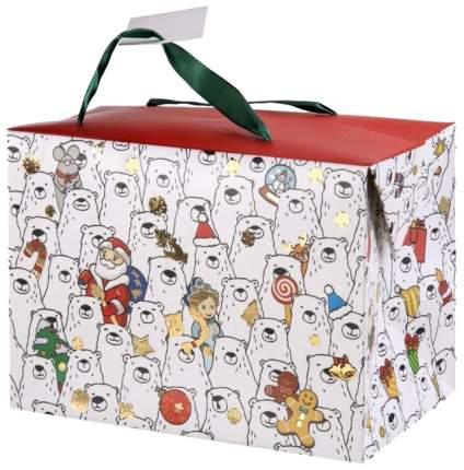 "Пакет бумажный ""Полярные мишки"", 15х11х9 см"
