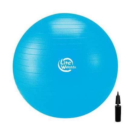 Мяч гимнастический с насосом Lite Weights 1867LW, голубой, 75 см