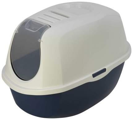 Туалет для кошек MODERNA Smart Cat, овальный, синий, 54х39х41 см