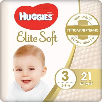 Подгузники Huggies Elite Soft 3 (5-9 кг), 21 шт.