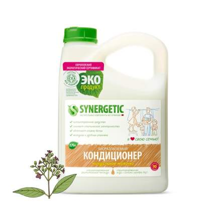 Кондиционер для белья Synergetic миндальное молочко 2750 мл