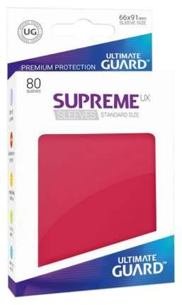 Протекторы Ultimate Guard, красные Supreme UX Sleeves Standard Size Red