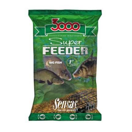 Прикормка Sensas 3000 Super Feeder для ловли крупной рыбы, 1 кг