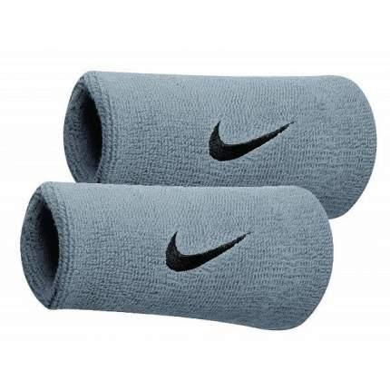 Напульсники Nike Swoosh Doublewide Wristbands gray