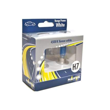 Лампа H7 Range Power White 12v 55w  (К-Кт 2шт В Пласт. Уп.) NARVA арт. 48607 2100