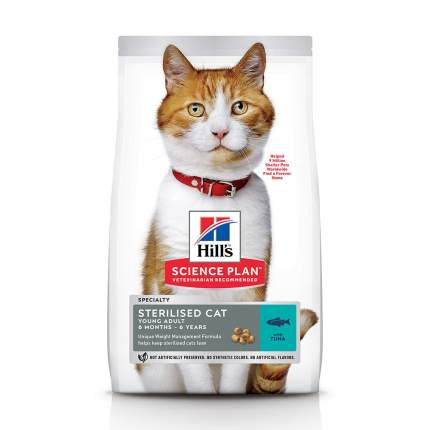 Сухой корм для кошек Hill's Science Plan Sterilised Young Adult, тунец, 10кг