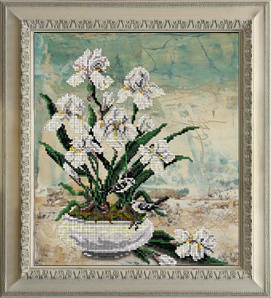 Набор для вышивания ювелирным бисером Краса и творчество 70816 Цветы 10 22,1х25,2 см