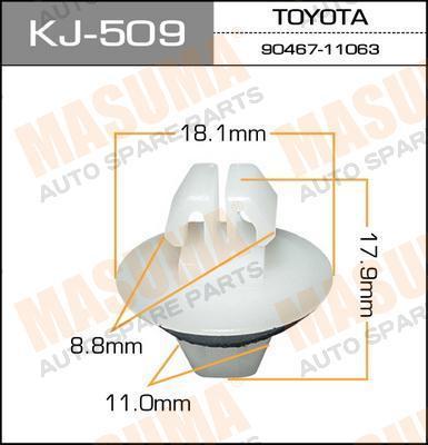 Клипса автомобильная Masuma KJ509