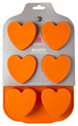 Форма для выпечки силиконовая Kuchenland Bakery Сердце 6 ячеек