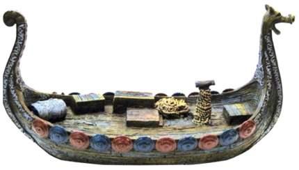 Декорация для аквариума Penn-Plax Ладья викингов, полиэфирная смола, 23,5х9х13,5 см