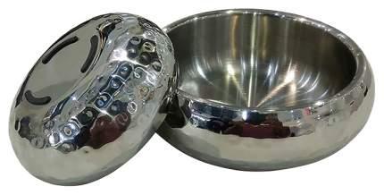 Одинарная миска для кошек и собак DOGMAN, сталь, серебристый, 1.25 л