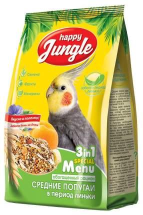 Корм для птиц HAPPY JUNGLE для средних попугаев при линьке 500 г J105