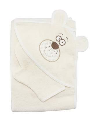 Полотенце-уголок Осьминожка с вышивкой Мишка 100х110 см