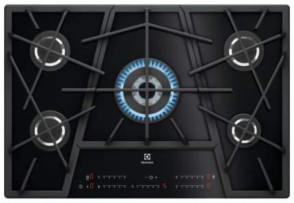 Встраиваемая варочная панель газовая Electrolux KGV7539IK Black