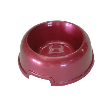 Одинарная миска для кошек и собак HOMEPET, пластик, красный, 0.2 л