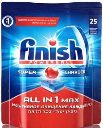 Таблетки для мытья посуды Finish в посудомоечных машинах all in1 max super charged 25 штук