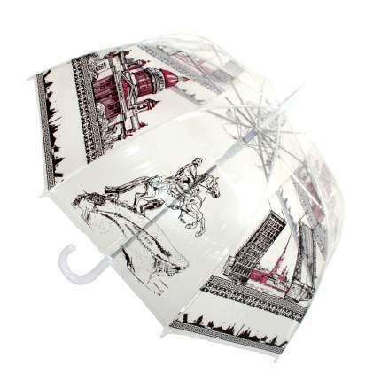 Зонт-трость полуавтомат Zemsa 913-1 белый